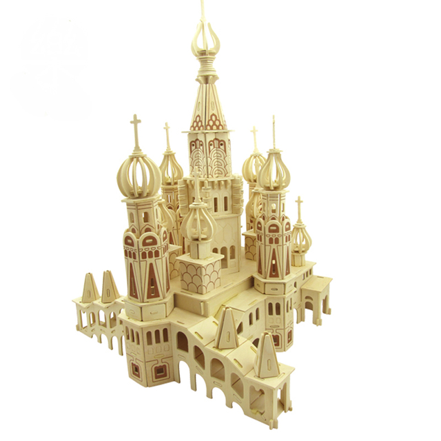 BOHS  St. Petersburg Church of the Savior on Spilled Blood Educational Toys Wooden  Model  3D DIY Puzzle  Scale Models