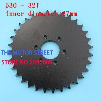 free shopping 530 32t 37mm rear chain sprocket gear wheel plate fit ATV Quad Pit Dirt Bike Motorcycle Motocross