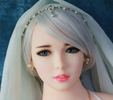 Oral Sex Doll Heads TPE Doll Head Solid Silicone Love Dolls Head For Men Oral Depth 13cm Fit Body from 130cm to 170cm