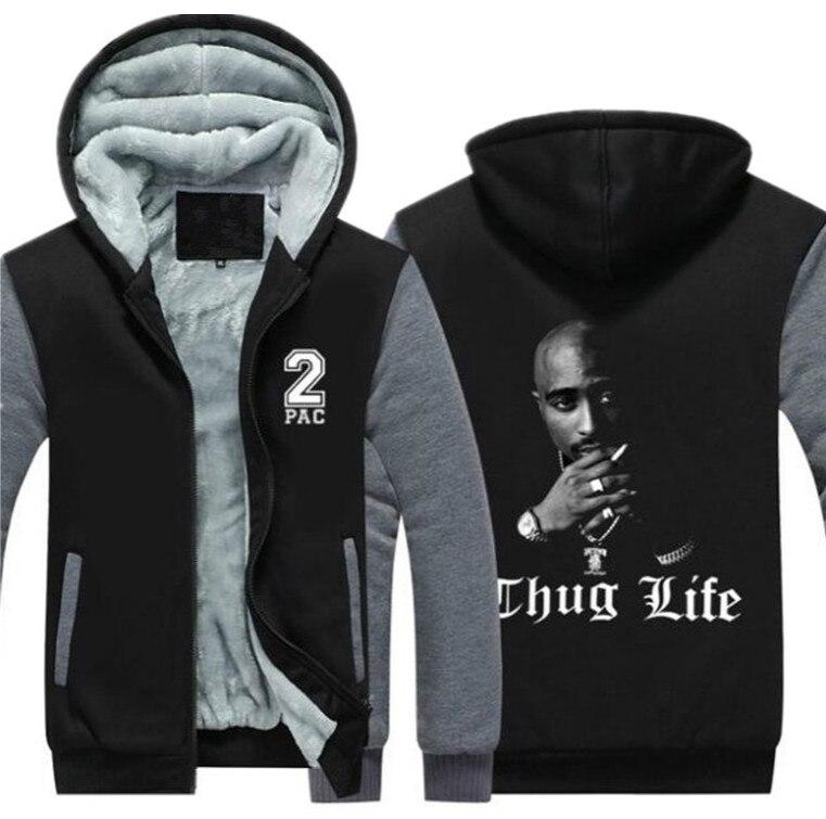 Дропшиппинг Тупак Амару Шакур 2Pac мужские на молнии свитер с капюшоном флис толстая куртка пальто Thug Life хип поп уличной