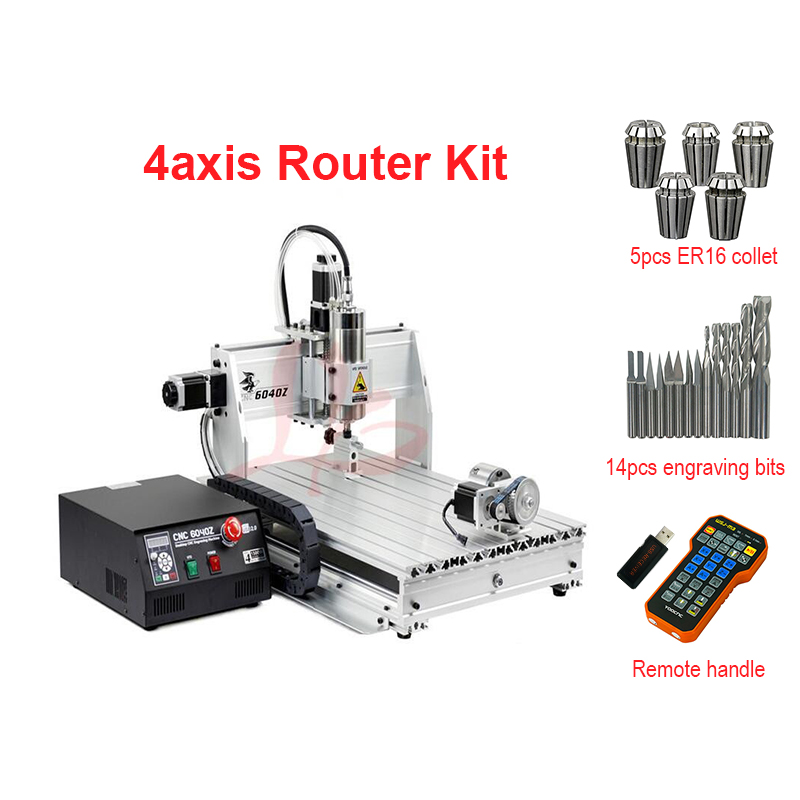 4 axis CNC 6040 2.2KW 2200W USB Mach3 CNC Router Engraver Wood Carving   Engraving Milling Machine With Remote Control MPG Handw4 axis CNC 6040 2.2KW 2200W USB Mach3 CNC Router Engraver Wood Carving   Engraving Milling Machine With Remote Control MPG Handw