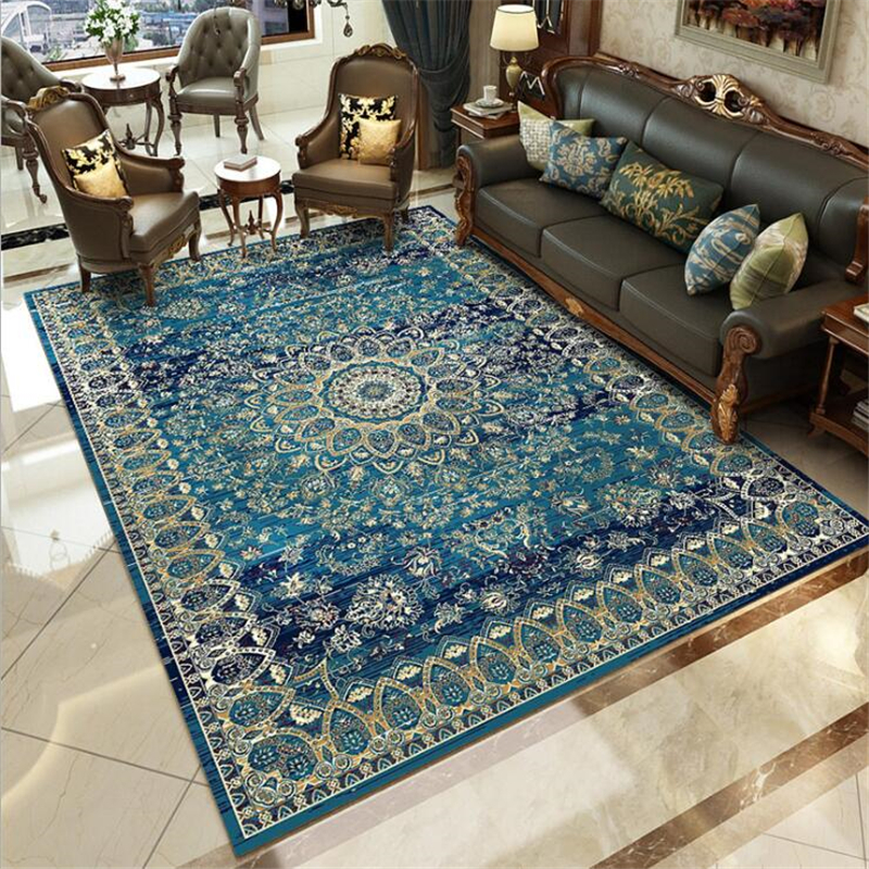 AOVOLL Style persan plus épais tapis doux pour salon chambre salle de réunion tapis de porte de plancher décorer délicat tapis de maison