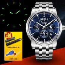 NEDSS Tritium Luminous Top brand Luxury Business Men's Watches Sapphire Glass Automatic mechanical Watch 100m Waterproof clock