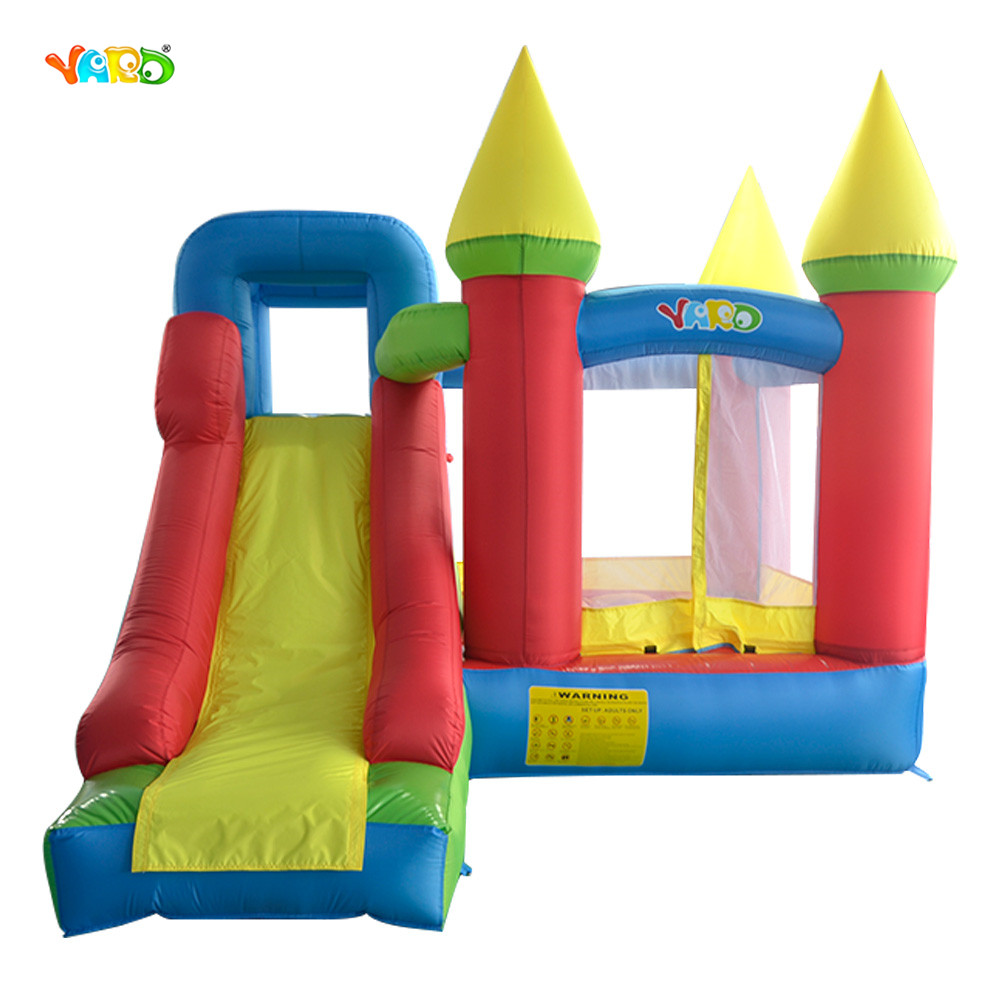 Top Grade Kids Play Games Inflatable Bouncy Castle Bouncer Inflatable Bounce House with Slide for Backyard Outdoor giant super dual slide combo bounce house bouncy castle nylon inflatable castle jumper bouncer for home used