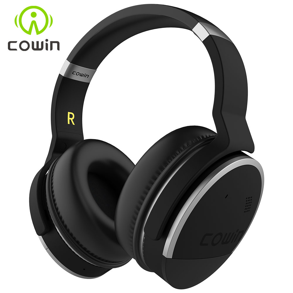 COWIN E 8 Active Noise Cancelling Headphones Wireless Bluetooth Headset with Mic Hi Fi Deep Bass