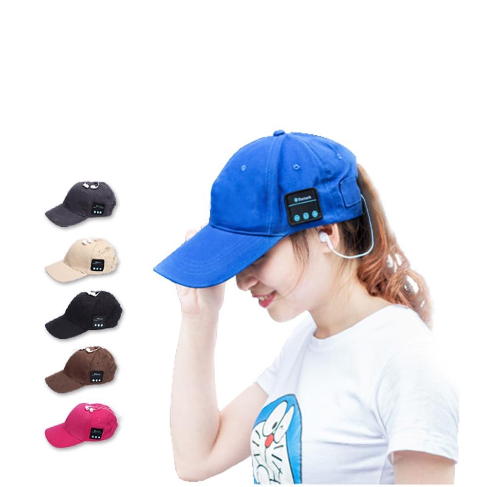2pcs/lot Wireless Bluetooth Sports Smart Baseball Hat Cap Music Headet Speaker Handsfree with Mic for Smart Phone v4 0 edr bluetooth baseball hat