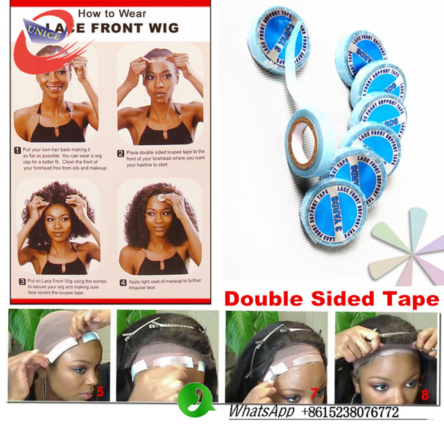 2pcs Lots New Lace Front Super Double Sided Adhesives Tape For Hair