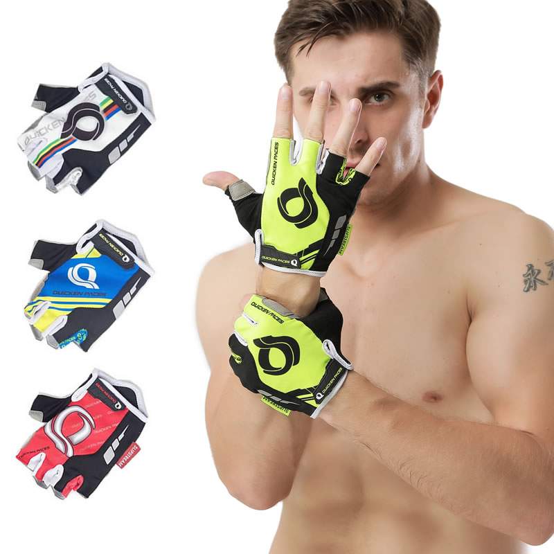 2018 GEL Pad Ciclismo Ciclismo Guantes / Mountain Bike Sports Guantes / Transpirable Racing MTB Bicicleta Ciclo Guante Para Hombre / Mujer