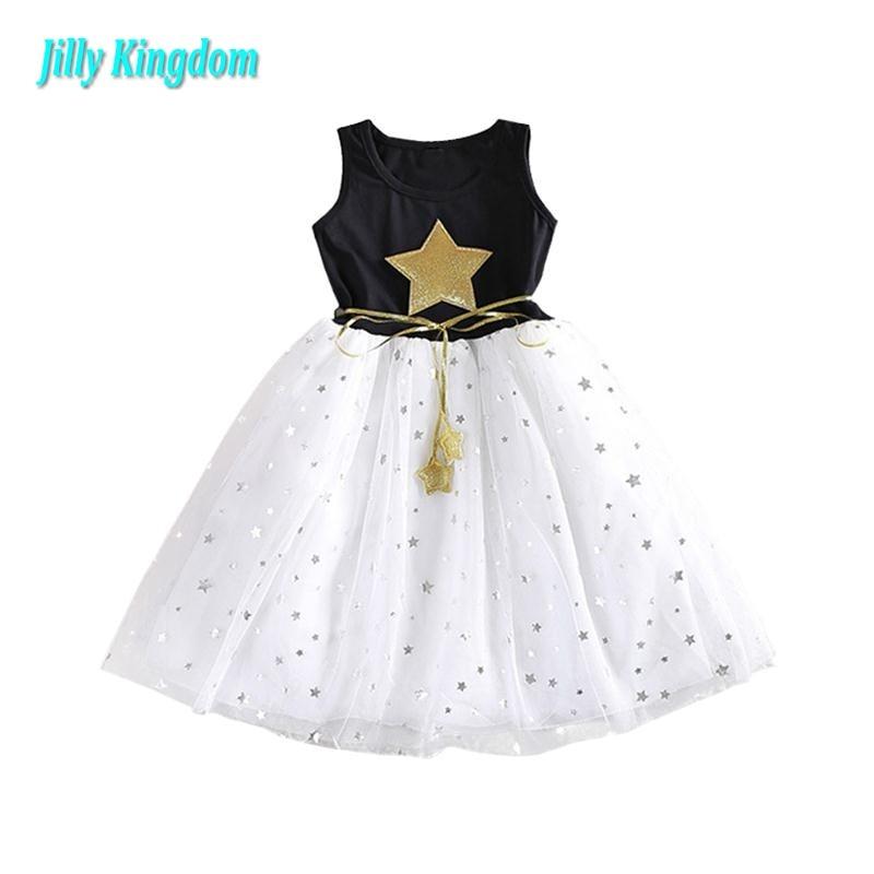2019 sommer Kinder Mädchen Kleider Gold Star Baby Mädchen Kinder - Kinderkleidung