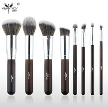 Anmor Essential Makeup Brushes 8 PCS Make Up Brushes Set Synthetic Starter Makeup Tools GR003