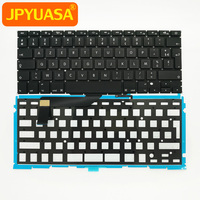 10pcs Lot Brand New For MacBook Pro Retina 15 4 A1398 AZERTY FR French Keyboard Keyboard