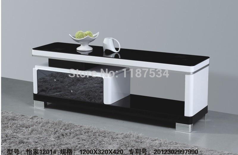 1201# Living room wooden glass modern furniture floor table TV ...