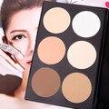 6 Cores de Maquiagem Cosméticos Blush Blush Contour Palette Maquiagem Pó Compacto SMT208