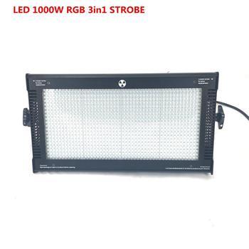 1000 W LED RGB 3in1 Luz Estroboscópica dmx STROBE Super bright luz Branca Quente 1000 W DMX Luz de Flash Strobe COB Levou Luz Estroboscópica