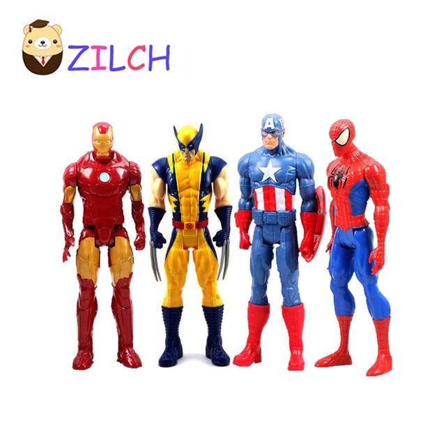 06dffa4e008b Marvel Heros Captain America Spider man Iron Man The Avenger Superhero PVC  Action Figure Collectible Toy