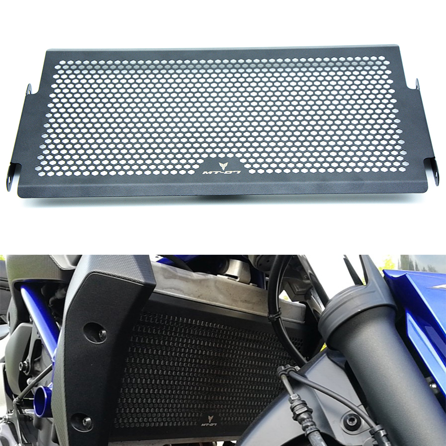 For YAMAHA MT07 fz-07 mt 07 2014 2015 2016 14 15 16 fz07 mt-07 mt 07 Black Motorcycle Radiator Grille Guard Cover Protector for yamaha mt 07 mt 07 fz 07 fz 07 radiator grille guard cover protector for yamaha mt07 fz07 2014 2015 2016 2017