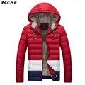 2016 Homens Inverno Casual Novos Homens E Mulheres Jaqueta de algodão Grosso Com Capuz Zipper Fino Casacos Homens Outwear Parka Quente