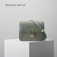 2018New Customized Hand rubbing cow leather Small square bags mill finish lines one shoulder crossbody bag fashion woman box
