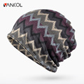 Vancol 2016 Autumn Thickening Beanie for Men Women Knitting Hat Warm Woolen Skullies Winter Men Knitted Hat Cotton Slouch Beanie
