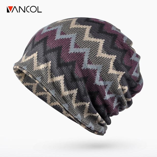 Vancol 2016 Autumn Thickening Beanie for Men Women Knitting Hat Warm Woolen Skullies Winter Men Knitted Hat Cotton Slouch Beanie