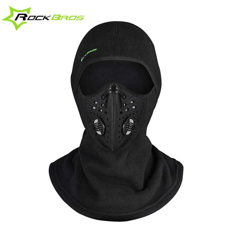 cb122937d2a ROCKBROS Winter Face Mask Scarf Cap Neck Headwear Face Shield Hat Ski Sport Face  Mask Cycling