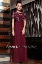 Elegante Dünne Dark Red Bodenlangen V-ausschnitt Mantel Spalte Pailletten Perlen Satin Abendkleid