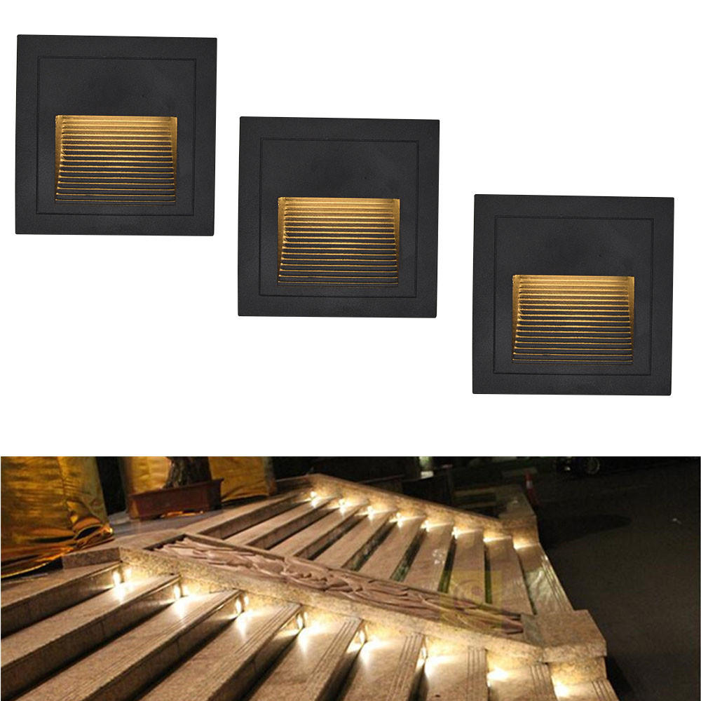 Waterproof Outdoor Led Stair Step Light 3w Recessed Wall ...