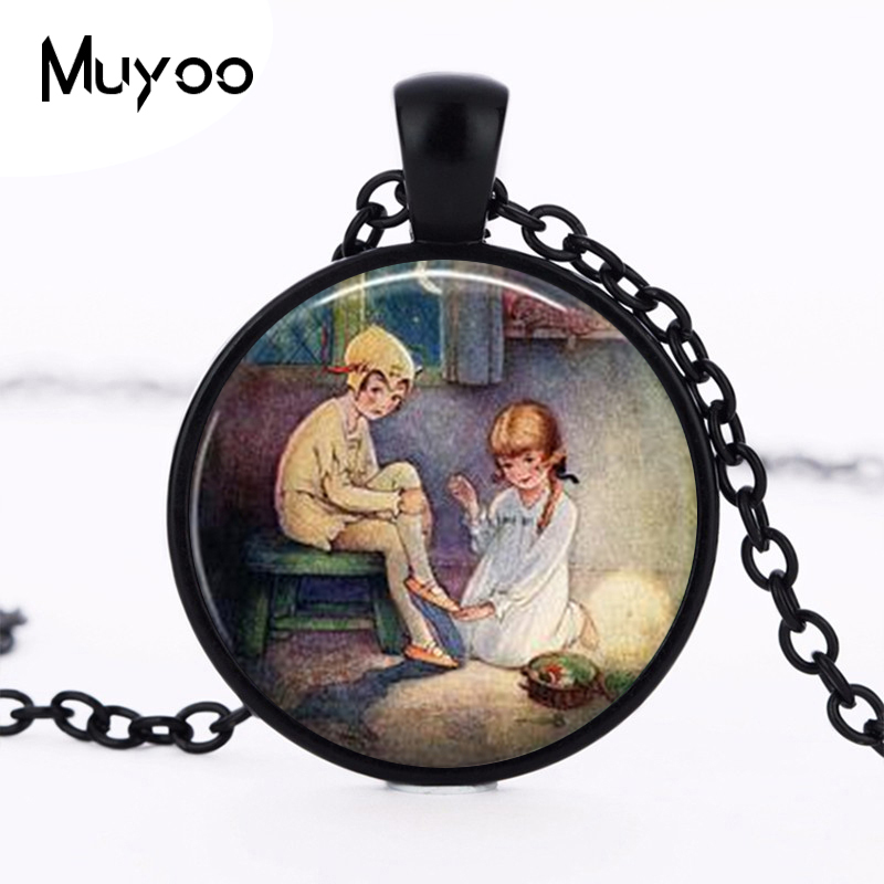 Peter Pan Necklace, Peter Pan Jewelry, Peter Pan and Wendy, Peter Pan Pendant Choker Necklace Men Women HZ1