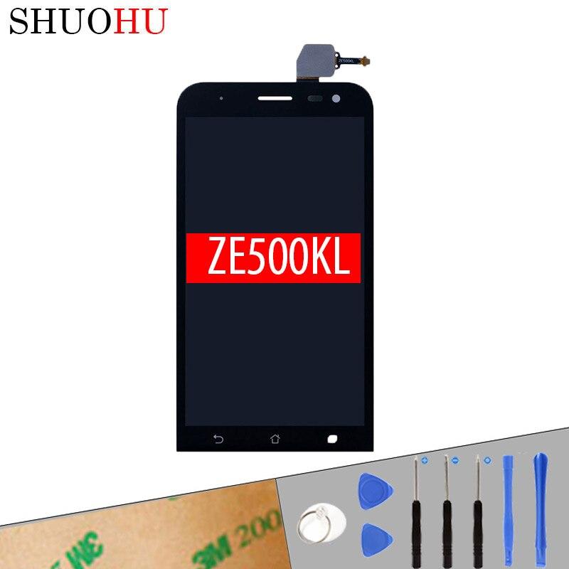 Тестирование жк-экран 5.0 дюймов для asus zenfone 2 laser ZE500KL Me500kl Z00ED ЖК-Дисплей Сенсорный Экран Digitizer Ассамблея Бесплатной инструменты