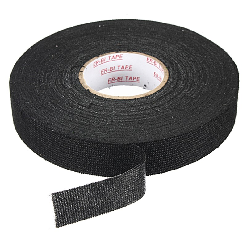 MTGATHER Anti Wear Adhesive Cloth Fabric Tape Cable Looms Wiring Harness Black Tapes 19mmx25m aliexpress com buy mtgather anti wear adhesive cloth fabric tape non-adhesive vinyl wiring harness tape at panicattacktreatment.co