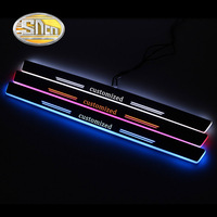 SNCN 4PCS Acrylic Moving LED Welcome Pedal Car Scuff Plate Pedal Door Sill Pathway Light For Mercedes Benz W211 W212 E200 E220