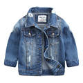 2017 Spring New Fashion Children Outerwear & Coats Boys Clothing Hole Denim Jacket Baby Kids Jackets Long Sleeve Denim Jean Coat