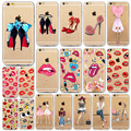 Red Lips and High Heel Phone Case For iPhone 7 7Plus 5 5s SE 6 6s Plus 6Plus 4 4s Soft TPU Slicone Phone Back Cover Shell fundas