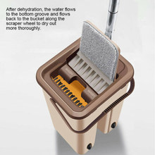цены Dust Wizard Mop Cleaning Tool Kit 360 Degree Rotation Home Floor Flat Mop