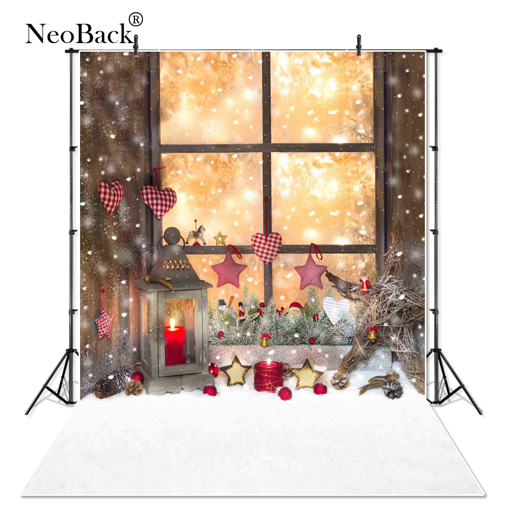 NeoBack    New 5X7ft  baby Christmas gifts backdrop  Printed vinyl fireplace photography background photo studio A1180 allenjoy christmas backdrop tree gift chandelier fireplace cute professional background backdrop for photo studio