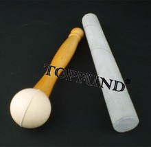 TOPFUND One Suede Striker & One Rubber Mallet for Playing Crystal Singing Bowls