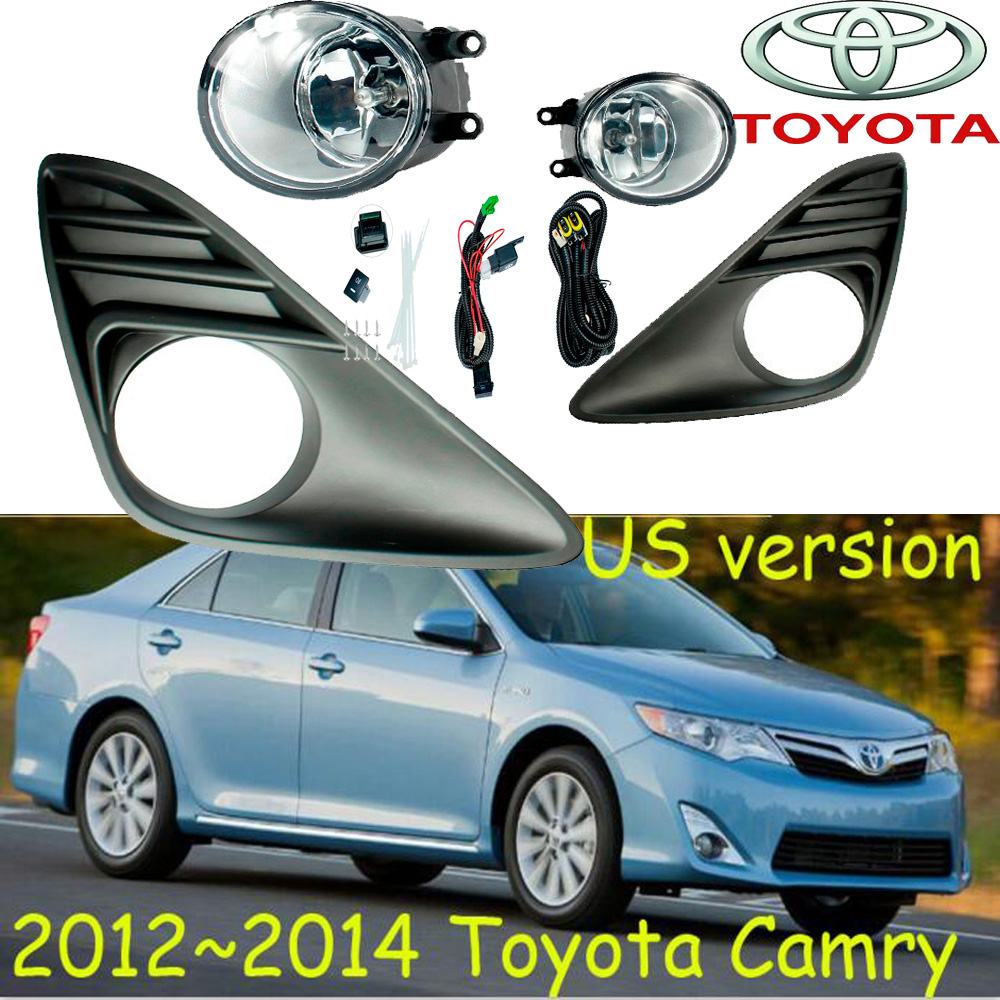US Version! 2012~2014 Camry fog light,Free ship!halogen,Camry headlight,vigo,Hiace,tundra,hilux,yaris;Camry day lamp us version  car styling 2012 2014 camry