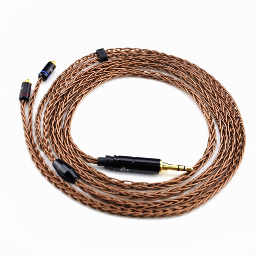 New Arrival LZ 3.5mm Balanced Cable 8-core 6N Upgreded Single Crystal Copper Earphone Cable With MMCX Connector For LZ A4/A3/A3S lz mmcx 0 78mm 2 pin 8 core 6n single crystal copper audiophile earphones iems upgrade cable 2 5mm 3 5mm