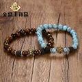 2017 new design fashion men bracelets high quality alloy lion trendy bracelets with calaite stones BR-358 wholesales