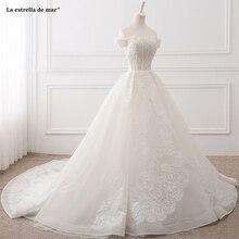 La estrella mar hochzeitskleid short sleeve wedding dresses