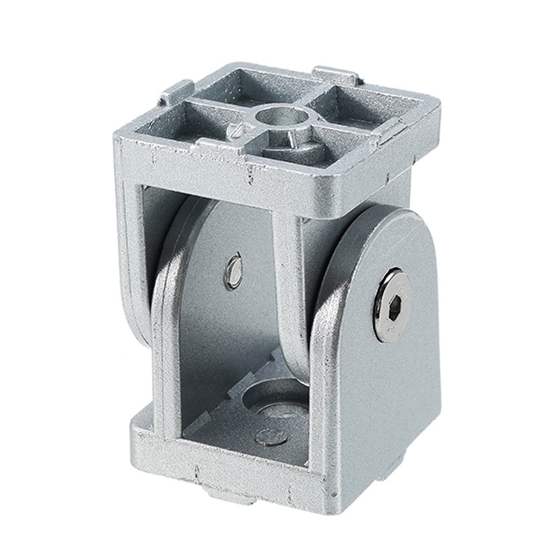 SULEVE New 1PC Zinc Alloy Hinge Industrial Adjustment Angle Connector for 3030 Series Aluminum Profile Cabinet Hardware