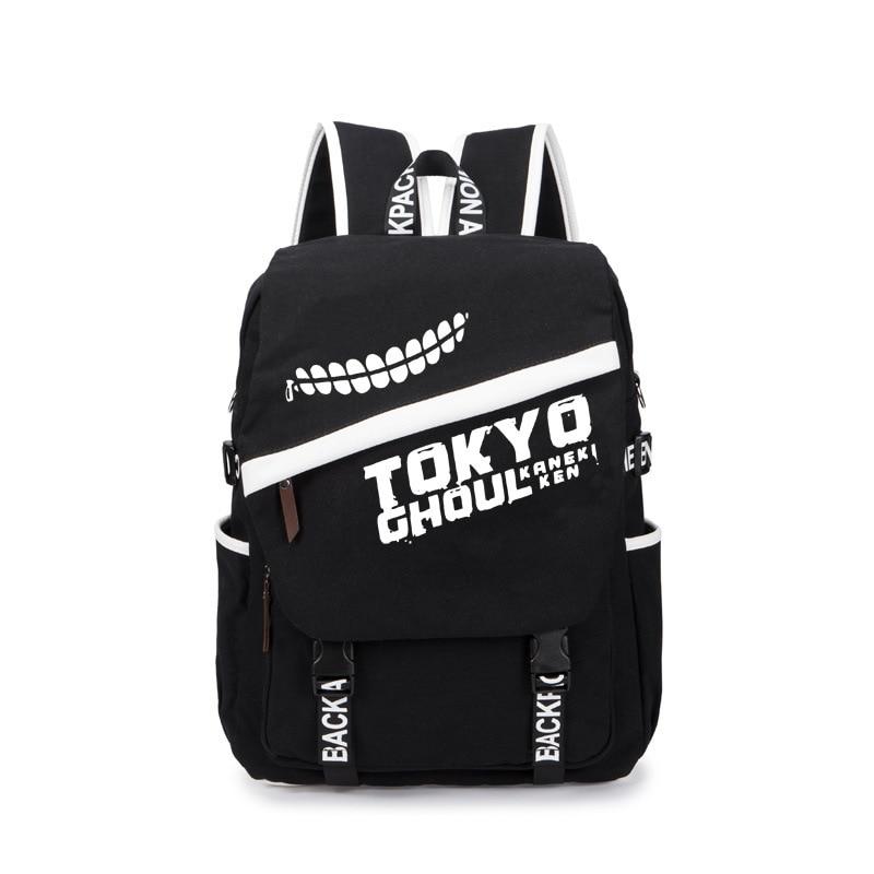 High Quality Anime Tokyo Ghoul Totoro Gintama Backpack Laptop Sword Art Online One Piece Bag School Travel Bag Canvas Backpacks фигурка героя мультфильма one piece figure set figuras 220 tokyo ghoul