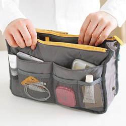 Лидер продаж Портативный Multi Make Up для женщин Макияж Организатор сумка двойной молнии косметичка несессер дорожные наборы сумка для