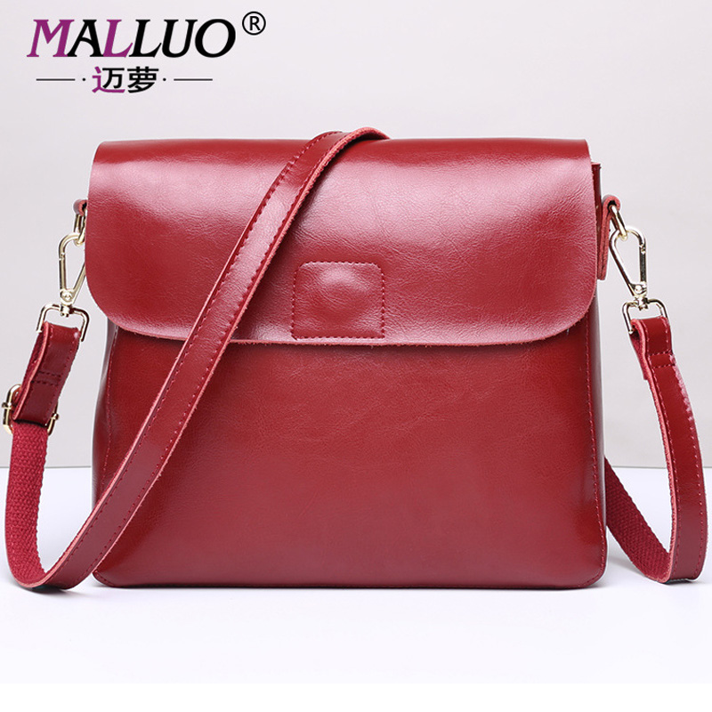 MALLUO Genuine Leather Women Bags Spring and Summer Small Top-Handle Bags Women Shoulder Bag Women-Messenger-Bag New Arrive Tote