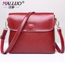 Malluo cuero genuino bolsos de las mujeres de primavera y verano pequeñas bolsas de asa superior las mujeres hombro bolsa de mensajero de las mujeres de nuevo llega bolso de mano