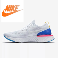 Original Nike New Arrival Authentic Sport Epic React Flyknit Mens Running Shoes Sport Outdoor Sneakers Good Quality AQ0067 100