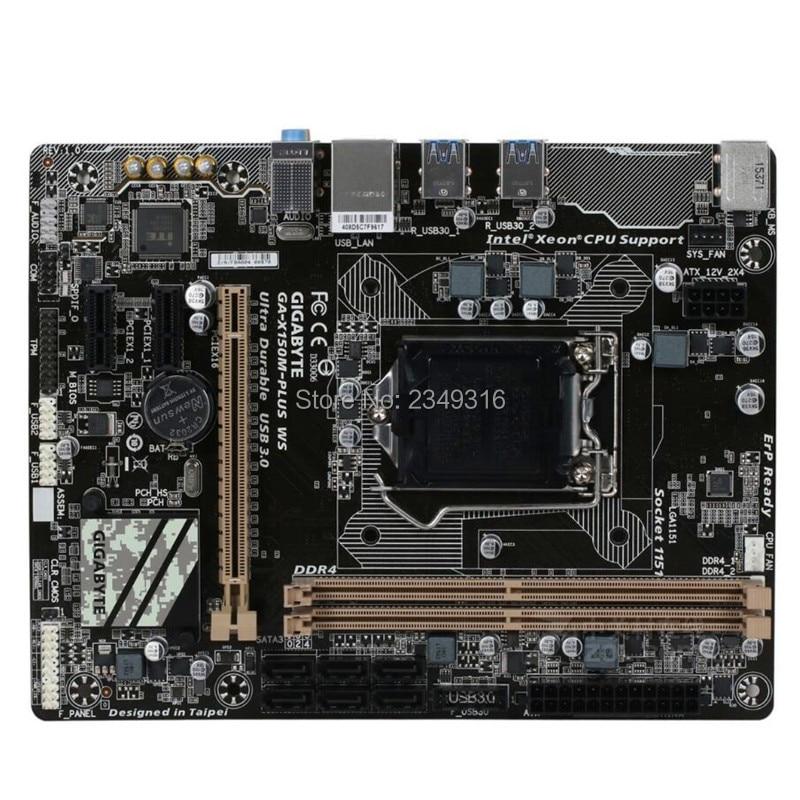 For Gigabyte GA-X150M-PLUS WS Original Used X150M-PLUS WS Motherboard C232 Socket LGA1151 DDR4 Support G3900 I3 6100 E3-1200 V5