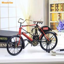 Decoration Crafts Figurines Miniatures Vintage Iron  Bicycle Model Desktop Furnishing Decoration Gift