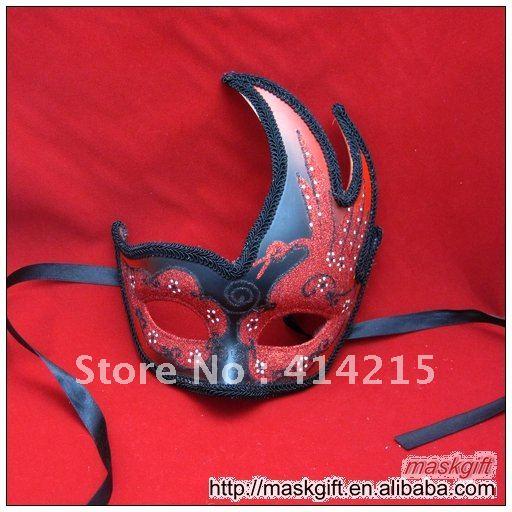DHL в США Лидер продаж красный и черный маскарад Хэллоуин карнавальные маски, 60 г