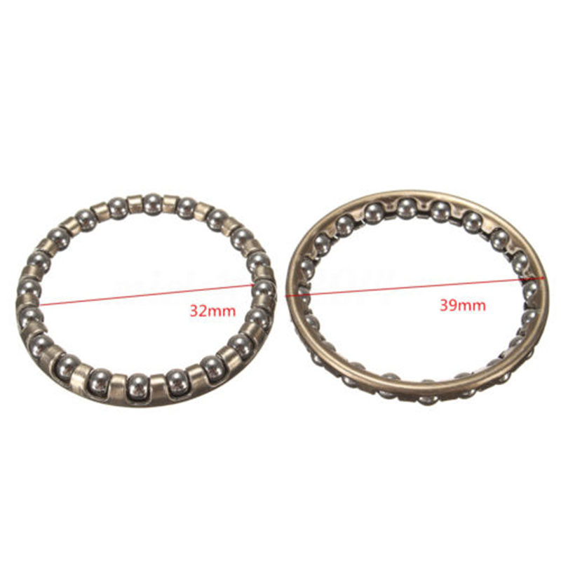 Cycle  Bike Ball Bearing 2pcs Bicycle Cycling Metal Replacement Caged Universal